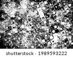 grunge texture. black and white ... | Shutterstock .eps vector #1989593222