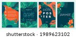 exotic summer colorful... | Shutterstock .eps vector #1989623102