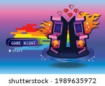game zone game icon background...   Shutterstock .eps vector #1989635972