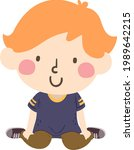 illustration of a kid boy...   Shutterstock .eps vector #1989642215