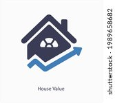 house value or rate icon...   Shutterstock .eps vector #1989658682