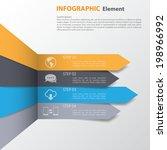 3d minimal infographics. vector  | Shutterstock .eps vector #198966992