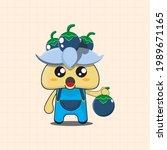 vector illustration of chibi... | Shutterstock .eps vector #1989671165