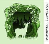 forest wilderness landscape.... | Shutterstock . vector #1989681728