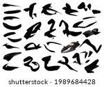 black vector watercolor brush...   Shutterstock .eps vector #1989684428