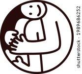 vector logo  a man fits into a...   Shutterstock .eps vector #1989686252