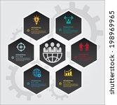 hexagons group modern business...