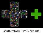 flare mesh web veterinary cross ... | Shutterstock .eps vector #1989704135