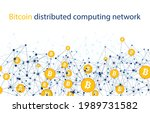 bitcoin cryptocurrency.... | Shutterstock .eps vector #1989731582