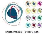 retro styled interlocking egg...   Shutterstock .eps vector #19897435