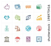 finance icons   colored series  | Shutterstock .eps vector #198975416