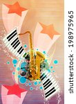 abstract music night or concert ... | Shutterstock . vector #198975965
