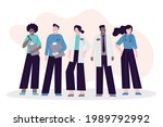 group of different... | Shutterstock .eps vector #1989792992