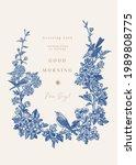 wedding invitation with three...   Shutterstock .eps vector #1989808775
