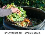 composting the kitchen waste | Shutterstock . vector #198981536