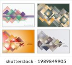 abstract background  set of 4... | Shutterstock .eps vector #1989849905