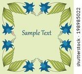 design element in art nouveau... | Shutterstock .eps vector #198985022