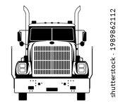 semi truck  vector illustration ...   Shutterstock .eps vector #1989862112