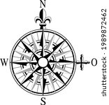 Old Navy Map Symbol. Wind Rose...