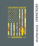 childhood cancer awareness usa...   Shutterstock .eps vector #1989878285