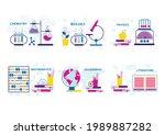 school lesson subjects. vector...   Shutterstock .eps vector #1989887282