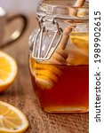 Jar Of Honey Being Dripped From ...