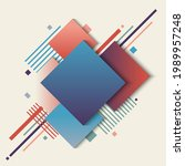 abstract geometric squares blue ... | Shutterstock .eps vector #1989957248