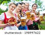 in beer garden   friends  man... | Shutterstock . vector #198997622