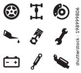 car mechanic icons | Shutterstock .eps vector #198999806