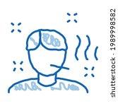 illness man sketch icon vector. ... | Shutterstock .eps vector #1989998582