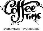 coffee time banner. modern...   Shutterstock .eps vector #1990002302