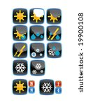 vector icons for weather report | Shutterstock .eps vector #19900108