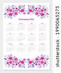 cute calendar for 2022 year.... | Shutterstock .eps vector #1990065275