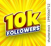 10000 followers banner. vector...   Shutterstock .eps vector #1990066712