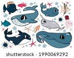 vector cute set of design... | Shutterstock .eps vector #1990069292