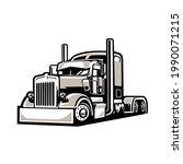 18 wheeler freightliner semi...   Shutterstock .eps vector #1990071215
