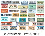 vehicle registration plates.... | Shutterstock .eps vector #1990078112