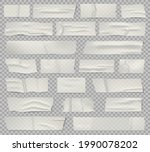 adhesive tape. transparent...   Shutterstock .eps vector #1990078202