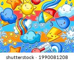 seamless pattern with cute... | Shutterstock .eps vector #1990081208