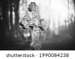 A Black And White Image Of An...