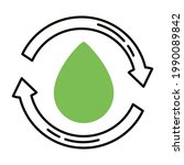 ecology arrows and drop green...   Shutterstock .eps vector #1990089842