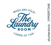 laundry room home sign. wash ... | Shutterstock .eps vector #1990097348