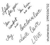 set of word love original...   Shutterstock .eps vector #1990106732