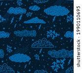 seamless pattern cloud abstract ...   Shutterstock . vector #1990110695