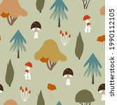 autumn seamless pattern with... | Shutterstock .eps vector #1990112105
