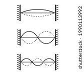 vibrations of strings waves...   Shutterstock .eps vector #1990113992