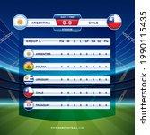 scoreboard broadcast template... | Shutterstock .eps vector #1990115435