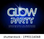 vector neon poster glow party....   Shutterstock .eps vector #1990116068