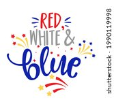 red  white and blue   happy... | Shutterstock .eps vector #1990119998