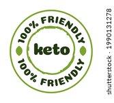 keto friendly badge nutrition...   Shutterstock .eps vector #1990131278